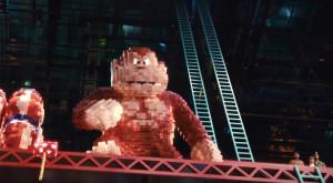 Donkey Kong gets a 3D makeover in Pixels.