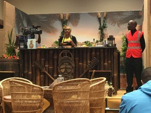 Cooking with rum - rum punch, flambé bananas and a very spicy dip made this a fantastic talk!
